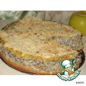 Рецепт Творожный пирог с маково-яблочной начинкой
