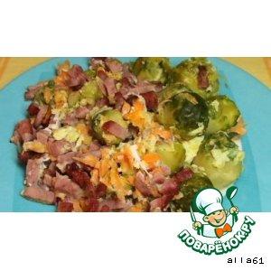 Рецепт Ветчина,  зепеченная с брюссельской капустой