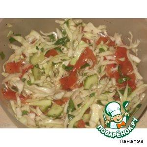 """Рецепт Овощной салат """"Свежесть"""""""