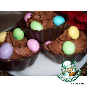 Рецепт Шоколадные корзиночки