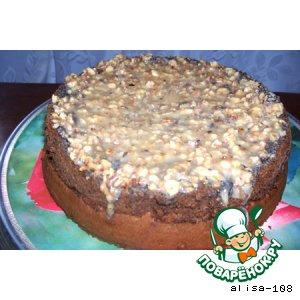Рецепт Маковый пирог с ореховой глазурью