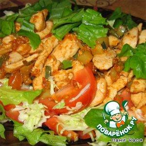 Рецепт Теплый салат с курицей