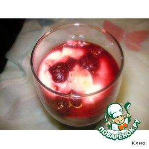 Рецепт Кокосовый крем с ягодной прослойкой