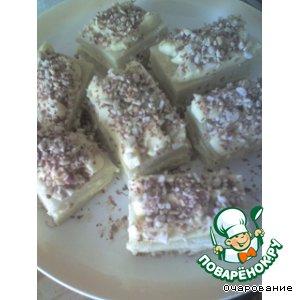 Рецепт Пирожные бисквитные с орехами