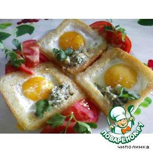 Рецепт Тосты с яйцом и соусом