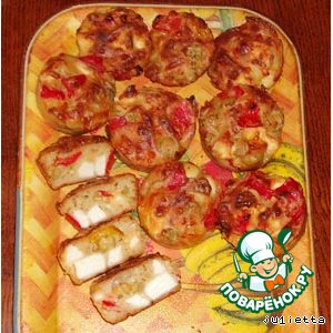 Рецепт Маффины с паприкой, оливками и сыром