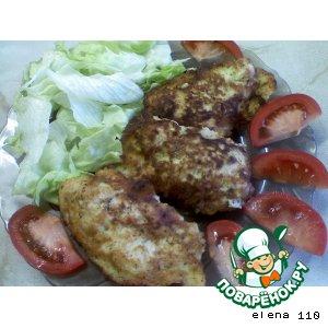 Рецепт Куриное филе в луковом кляре