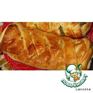 Рецепт Слоеный пирог с картофелем и грибами