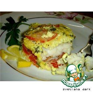 Рецепт Рыба под сметанно-горчичным соусом