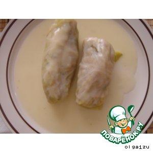 Рецепт Голубцы в белом соусе