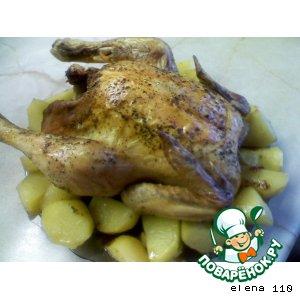 Рецепт Курица с травами и сухофруктами
