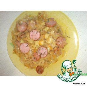 Рецепт Солянка с сосисками и макаронами