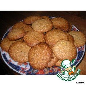 Рецепт Хрустящие кунжутно-кокосовые печенья