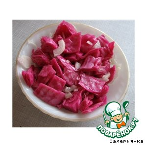 Рецепт Капуста, квашенная со свeклой в маринаде