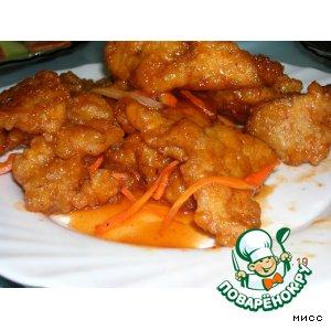 Рецепт Свинина в кляре по-китайски