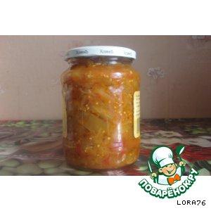 Рецепт Салат из баклажанов с овощами