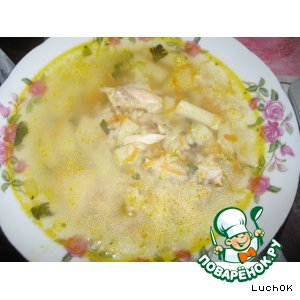 Рецепт Суп рисовый на курином бульоне