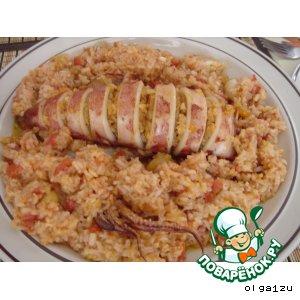 Рецепт Фаршированный кальмар с рисом