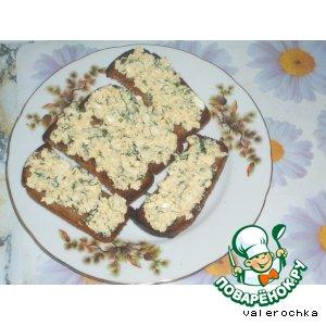 Рецепт Гренки с яичным паштетом