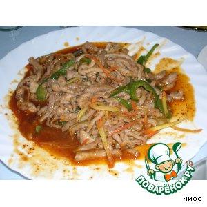 Рецепт Свинина с овощами по-китайски