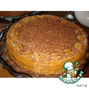 Как приготовить домашний рецепт с фото Торт - пирог