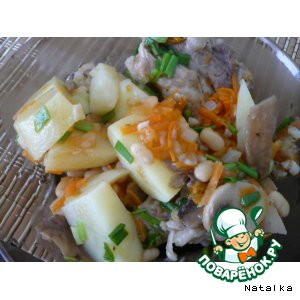 Рецепт Тушеный картофель со свиными ребрами
