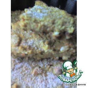 Рецепт Бабка морковная с зеленым горошком