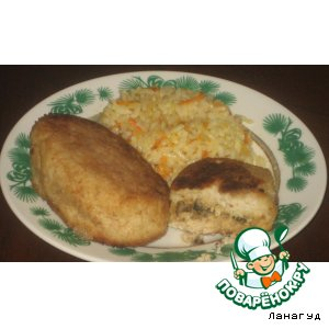Рецепт Куриные котлетки с начинкой