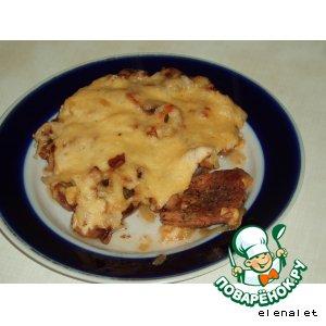 Готовим Мясо, жареное с грибами вкусный рецепт с фото пошагово