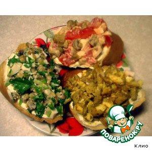 Рецепт Грибные закусочные бутербродики