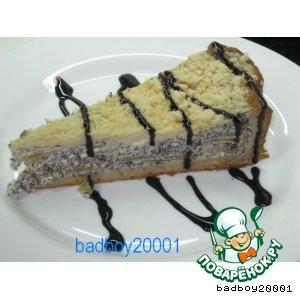 Рецепт Творожный торт с маком и яблоками