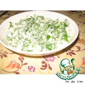 Рецепт Салат с черемшой