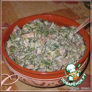 Рецепт Салат с грибами и зеленой фасолью