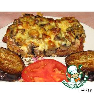 Салат шапка мономаха рецепт с курицей и грибами