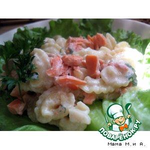 """Рецепт """"Гребешки"""" в соусе из копченого лосося"""