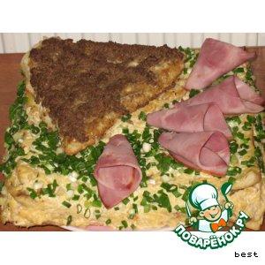 Закусочный торт простой рецепт приготовления с фотографиями пошагово