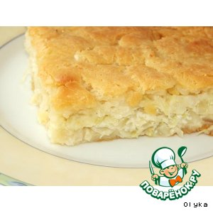 Готовим простой рецепт с фото Капустный пирог