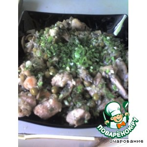Рецепт Грудки куриные в омлете