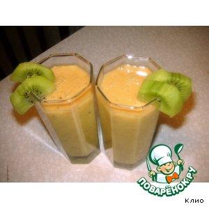 Рецепт Бананово-манговый коктейль