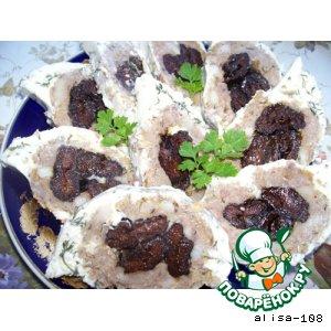Рецепт Мясной рулет в майонезе