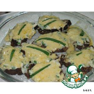 Рецепт Печеночные отбивные в сыре