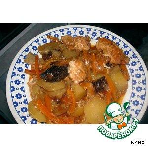Как готовить Куриное жаркое с ароматом апельсина рецепт приготовления с фотографиями