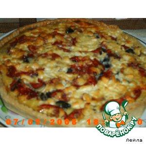 Рецепт Киш с баклажанами и помидорами