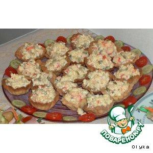 Рецепт Корзиночки с салатом