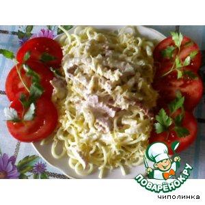 Спагетти под соусом рецепт приготовления с фото пошагово