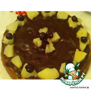 Рецепт Кекс с ананасом и вишнями