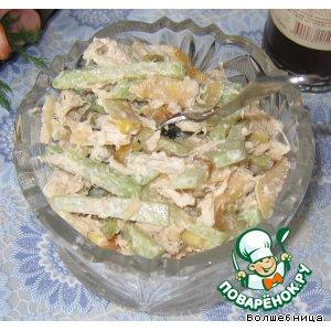 Салат из редьки с курицей простой рецепт приготовления с фото