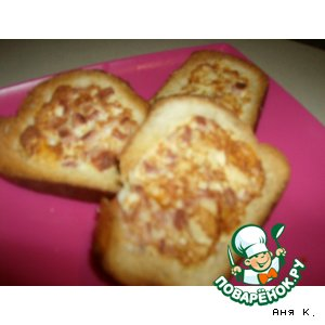 Рецепт: Пицца из батона