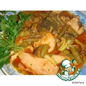 Рецепт Индюшка с овощами в томате