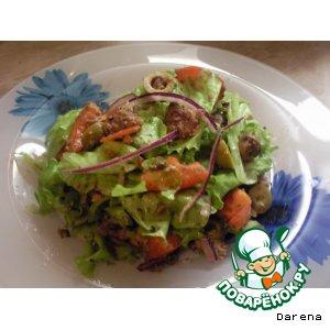 Рецепт Пикантный салатик из тунца